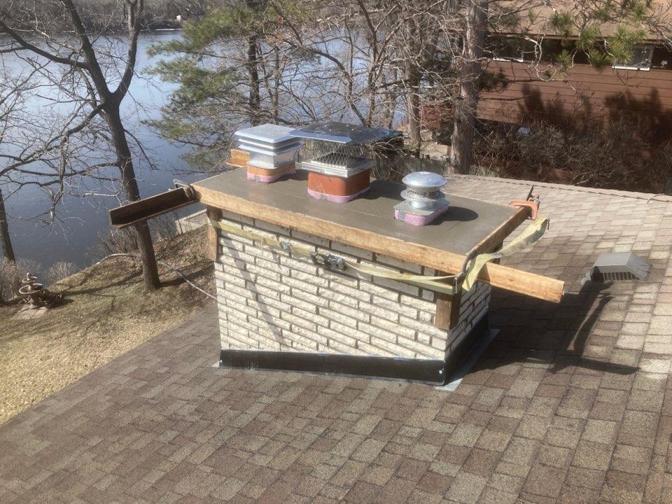 Ramsey, MN - Roofline rebuild - double mainfloor reline - new insert