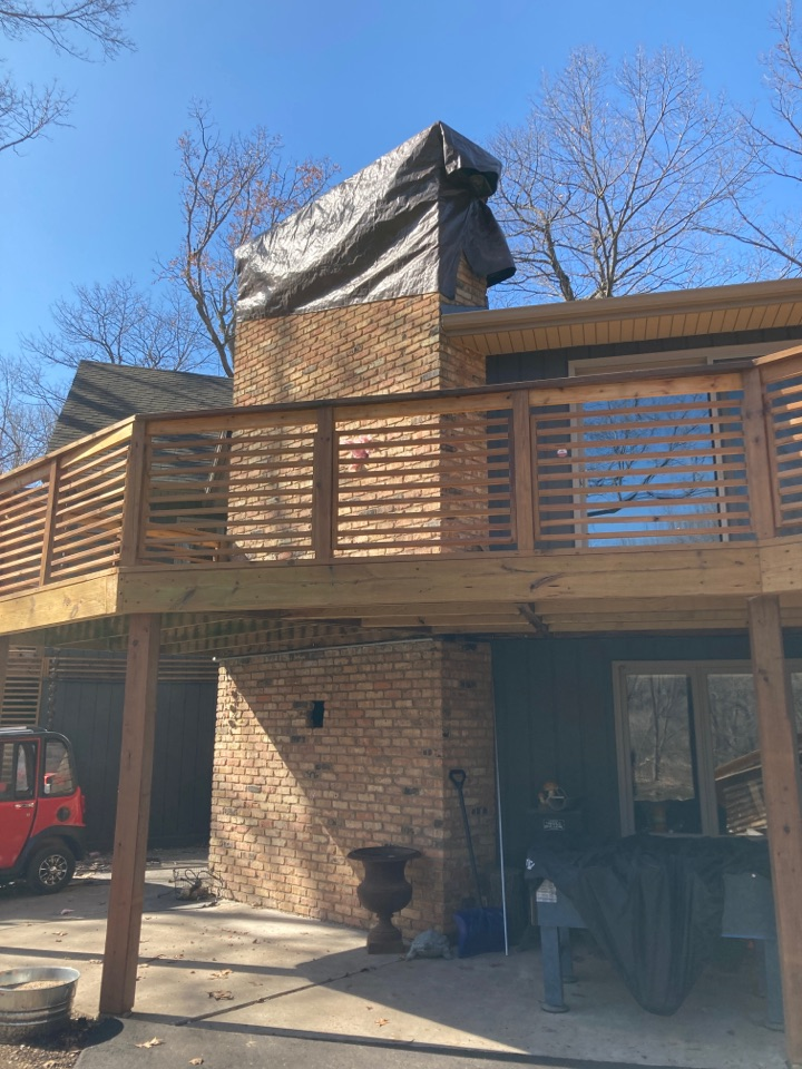Wayzata, MN - Prepped chimney for double reline