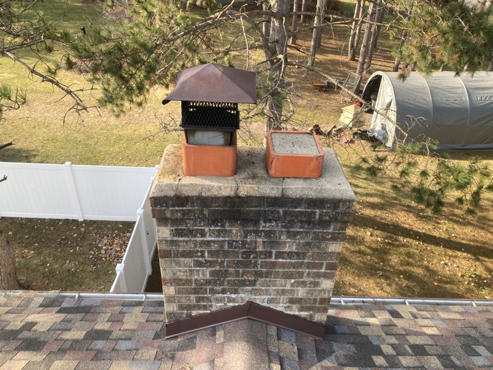 Lino Lakes, MN - Chimney cleaning and smartscan flue liner inspection - proposal for repairs