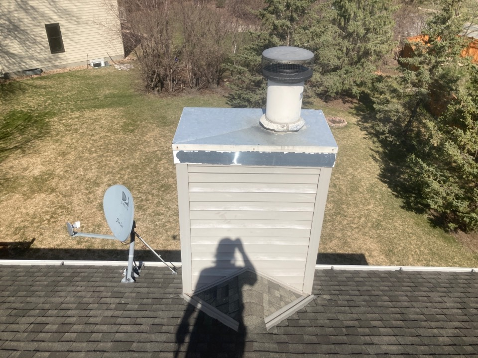 Eagan, MN - Chimney cleaning and smartscan flue liner inspection - booked for a new chase top