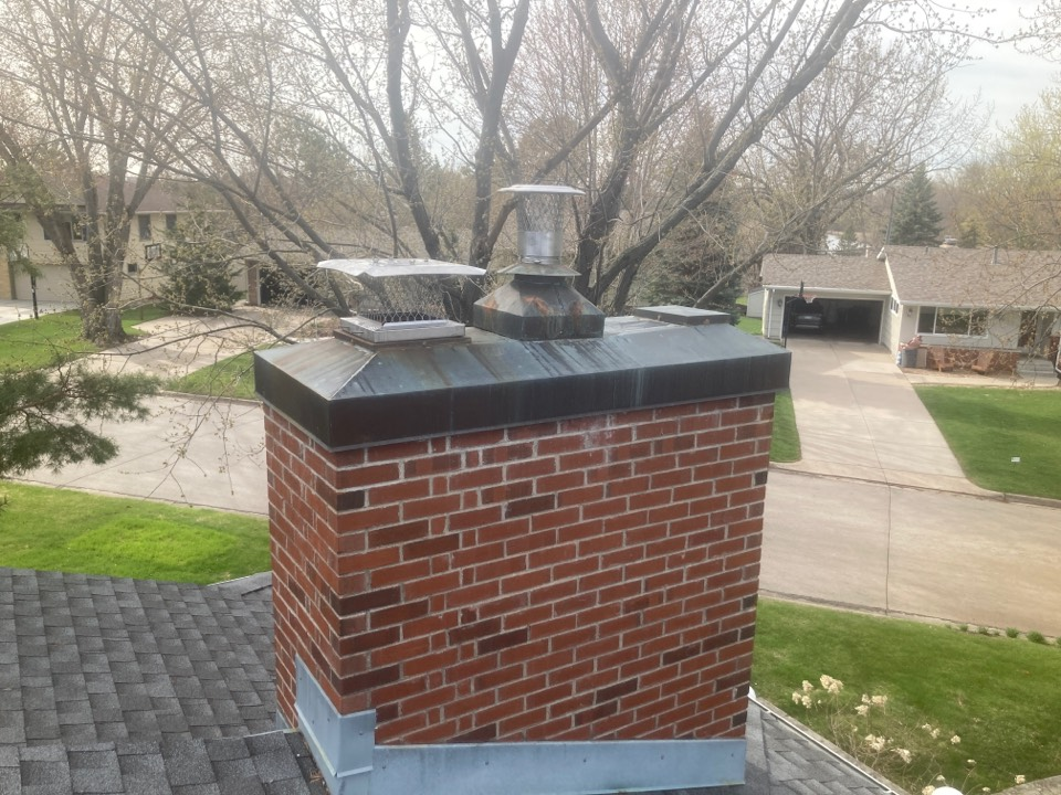 Edina, MN - Annual cleaning and smartscan flue liner inspection- new caps