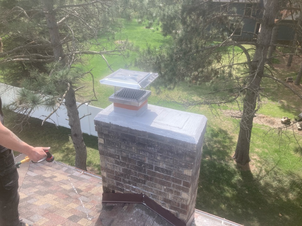 Lino Lakes, MN - New screen and rain cover - crown repair and tuck pointing