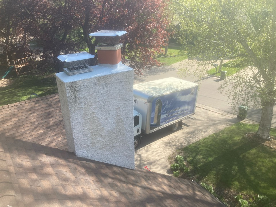 Roseville, MN - Annual chimney cleaning and smartscan flue liner inspection