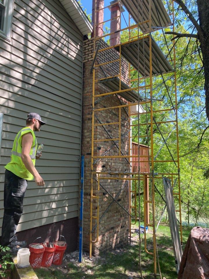 Ramsey, MN - Rebuilding chimney
