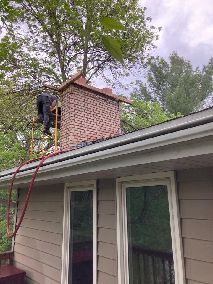 Ramsey, MN - Rebuilt chimney