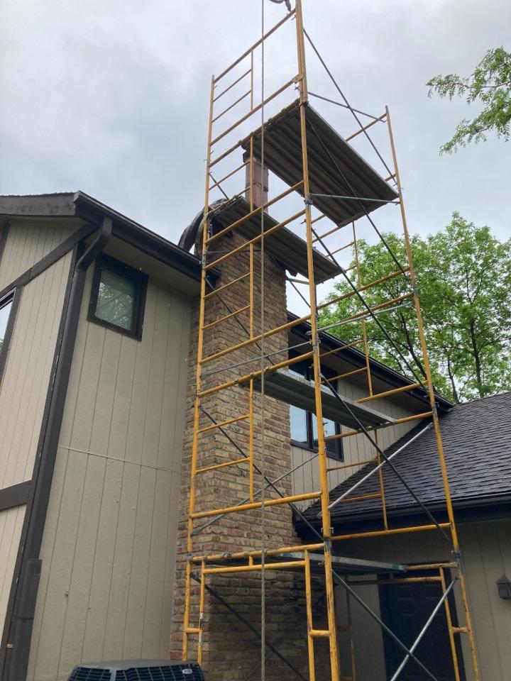 Bloomington, MN - Prepped chimney for rebuild
