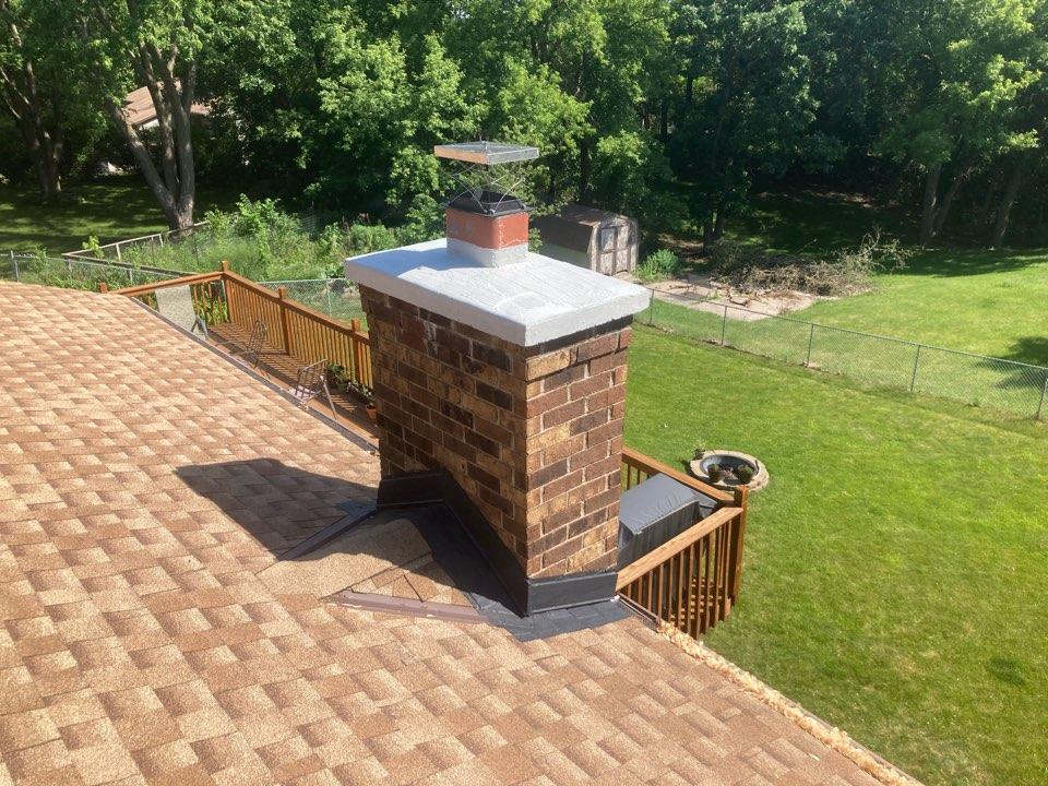 Burnsville, MN - Crown flashing and brick sealant - heat shield refractory liner repair