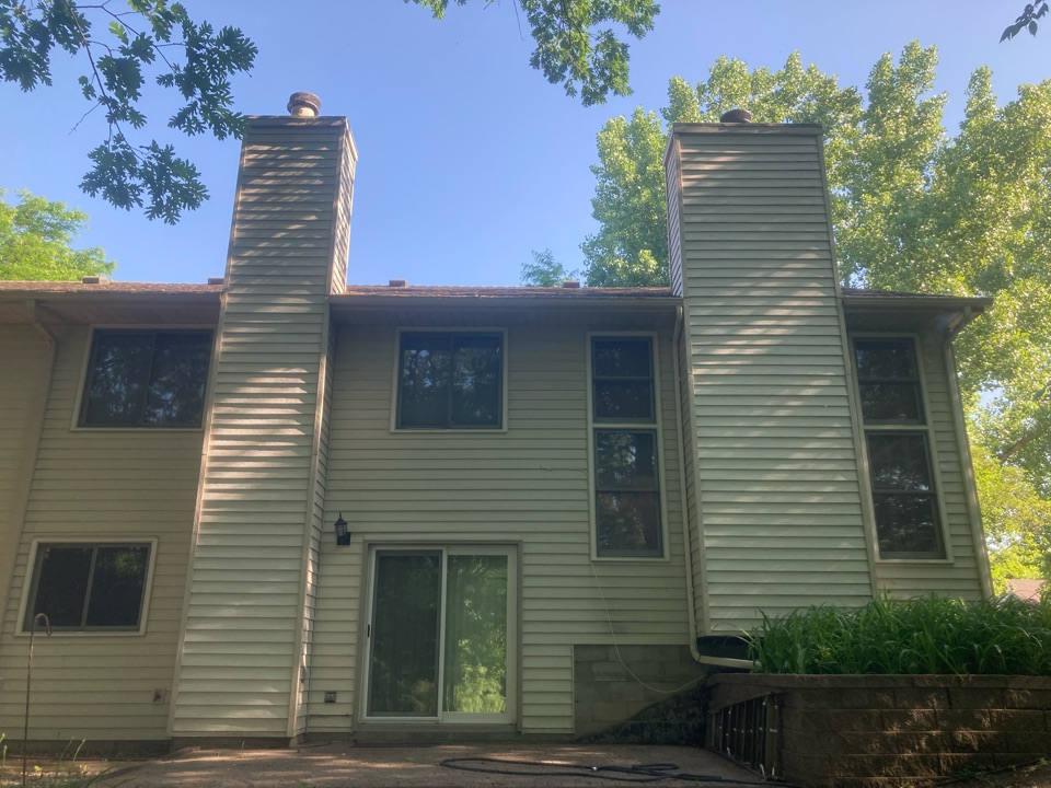 Maple Grove, MN - Double chimney cleaning and smartscan flue liner inspection - proposal for two new sets of refractory panels two chase tops and two new caps