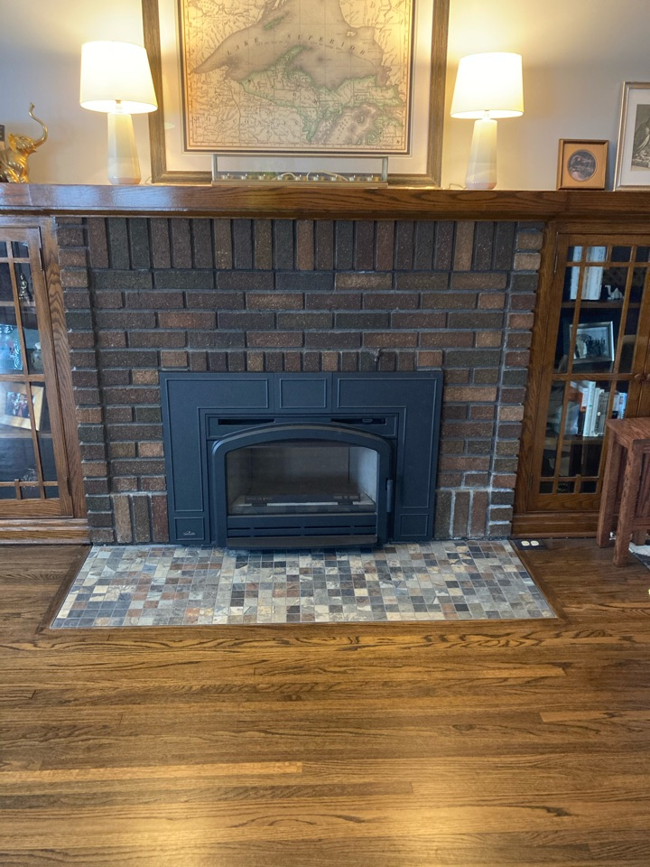 Installed new wood burning insert