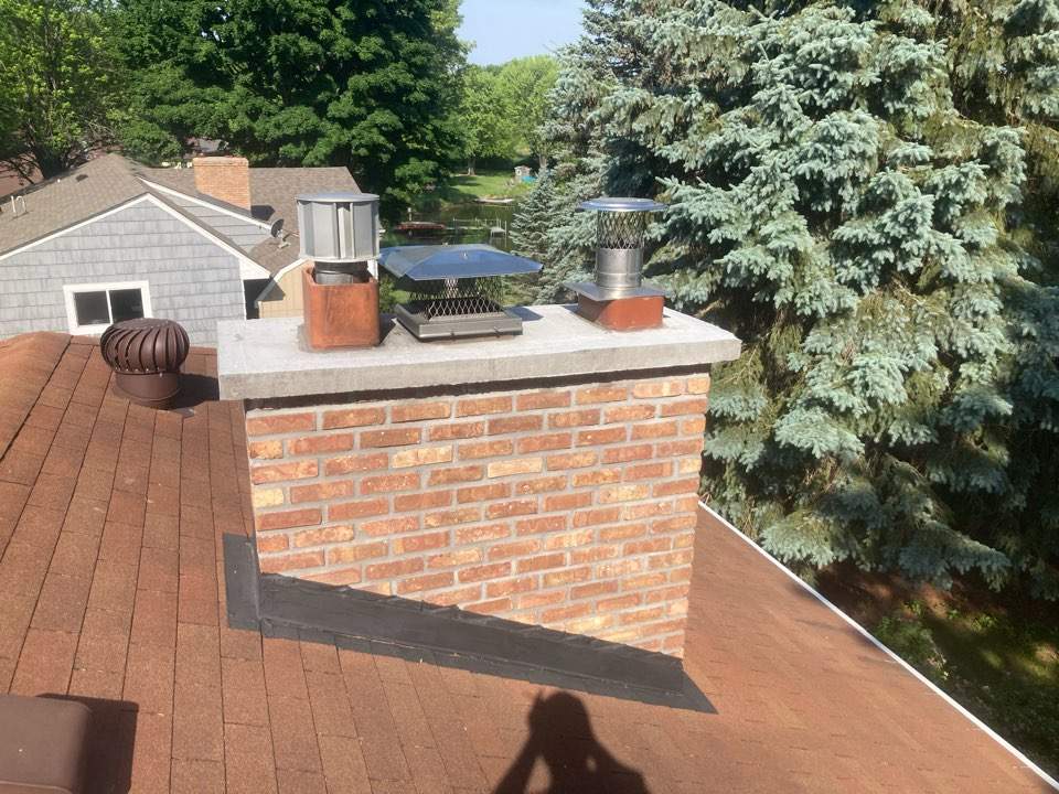 Eden Prairie, MN - Annual double chimney cleaning and smartscan flue liner inspection
