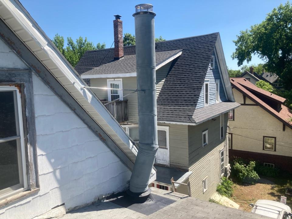 Saint Paul, MN - Flashing repair - roof braces - new cap