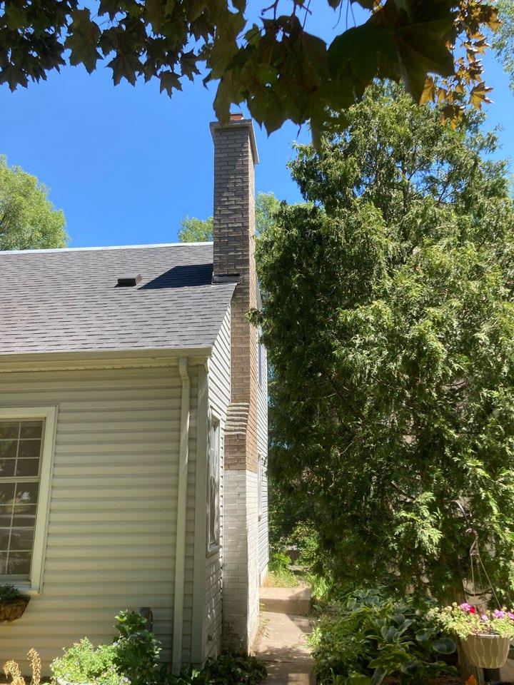 St. Louis Park, MN - Rebuilt chimney