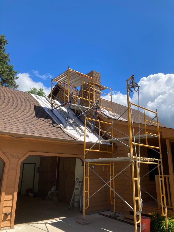Andover, MN - Prepped chimney for rebuild