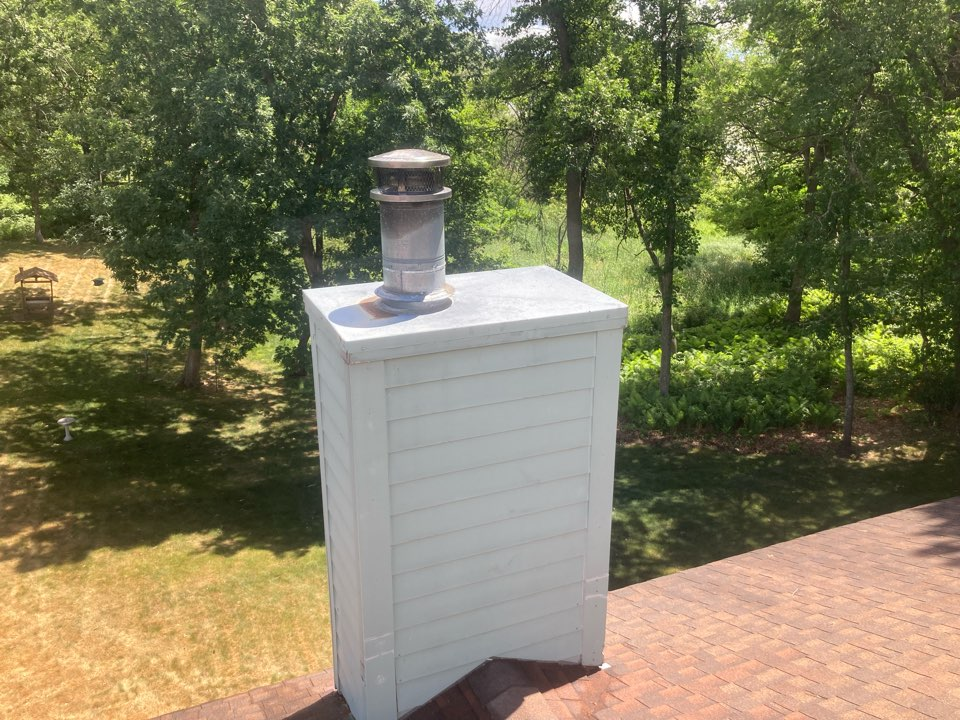 Wyoming, MN - Chimney cleaning and smartscan flue liner inspection- booked for a new chase top