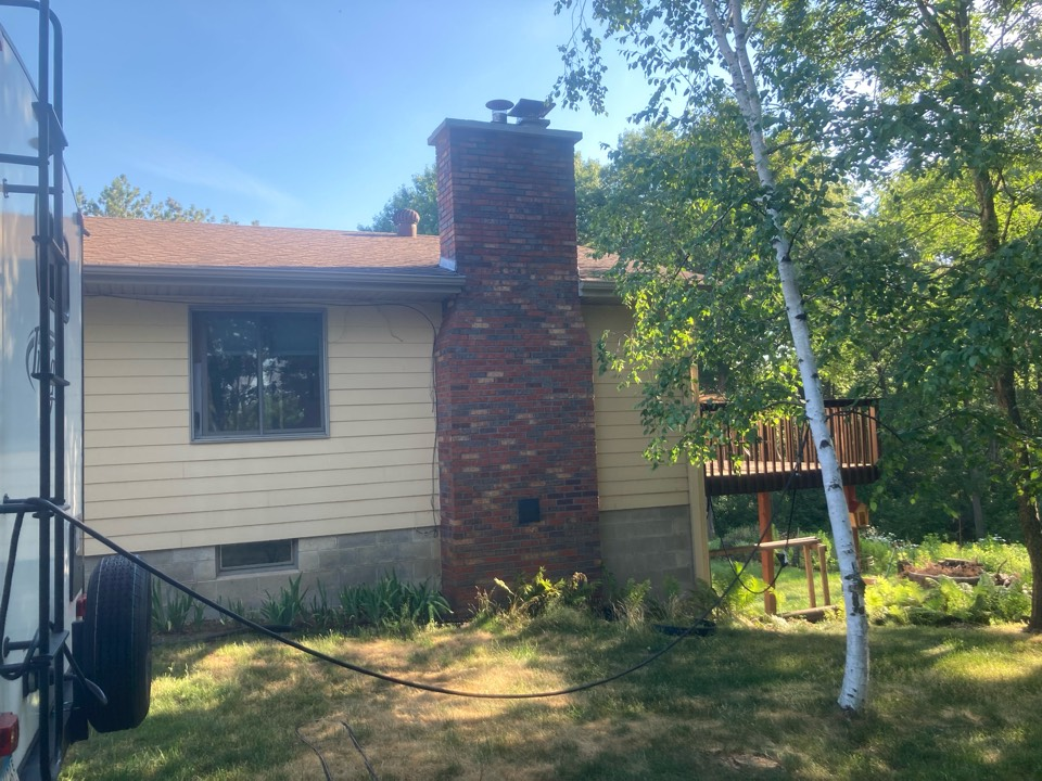 Isanti, MN - Annual double chimney cleaning and smartscan flue liner inspection