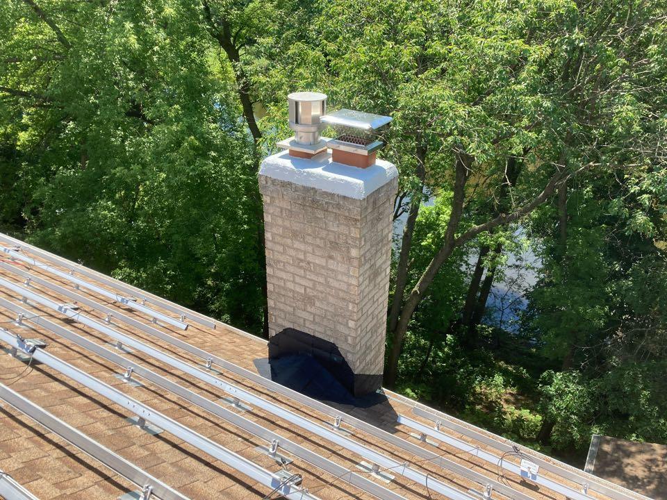 Eden Prairie, MN - Flashing and crown repair