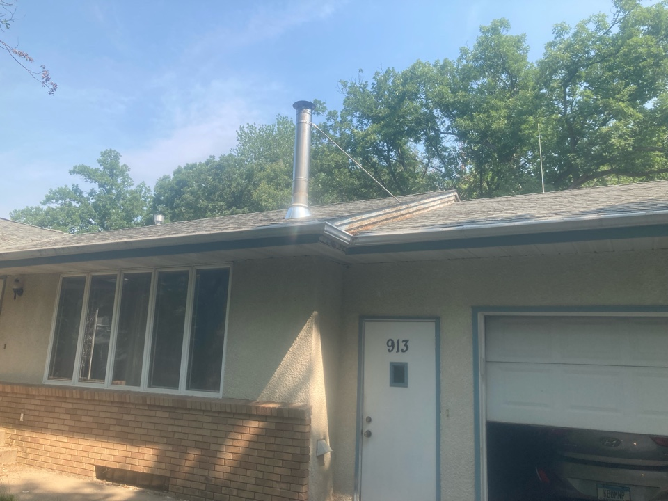 Circle Pines, MN - Chimney cleaning and smartscan flue liner inspection- booked for a new screen and rain cover