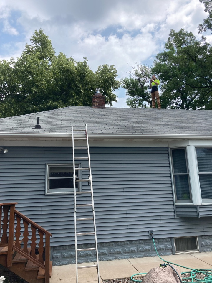 Forest Lake, MN - EST install cap and top plate