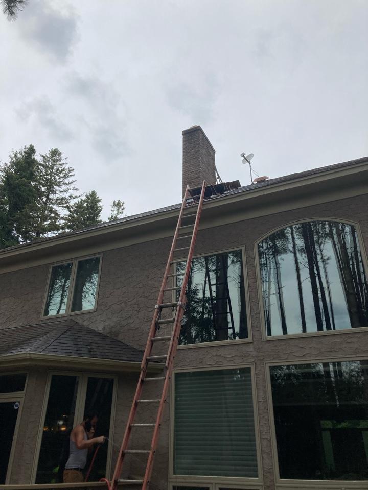 North Oaks, MN - Installed new chimney liner
