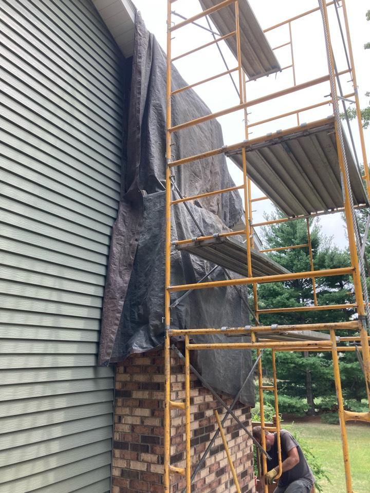 White Bear Lake, MN - Prepped chimney for rebuild