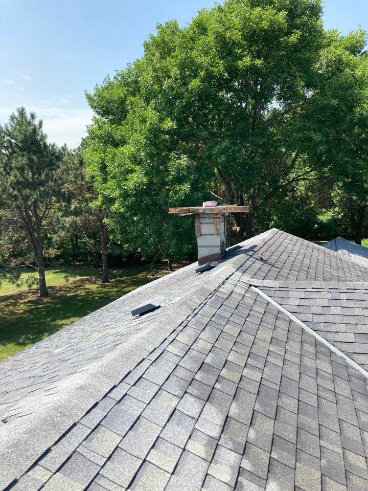 Bethel, MN - Roof line rebuild