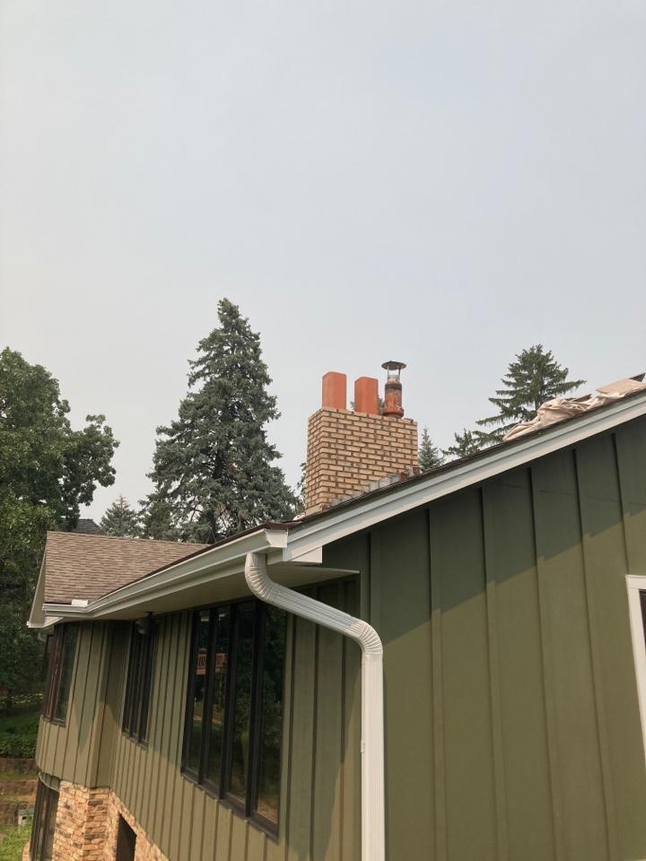 Mendota Heights, MN - Rebuilding chimney