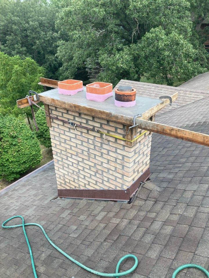 Mendota Heights, MN - Rebuilt chimney