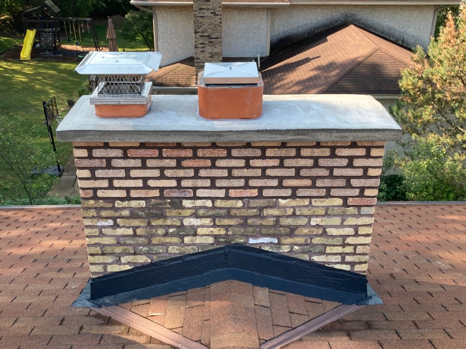 Vadnais Heights, MN - Rebuilt and sealed chimney