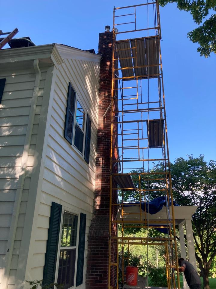 Marine on Saint Croix, MN - Rebuilding chimney