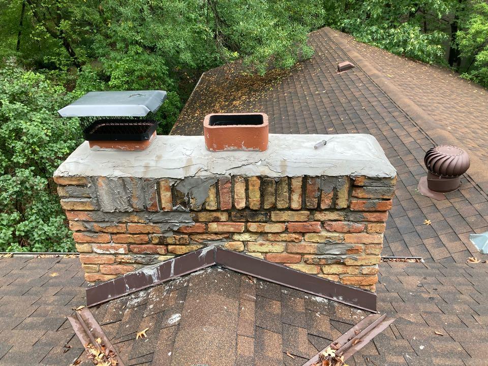 Anoka, MN - Double chimney exspection