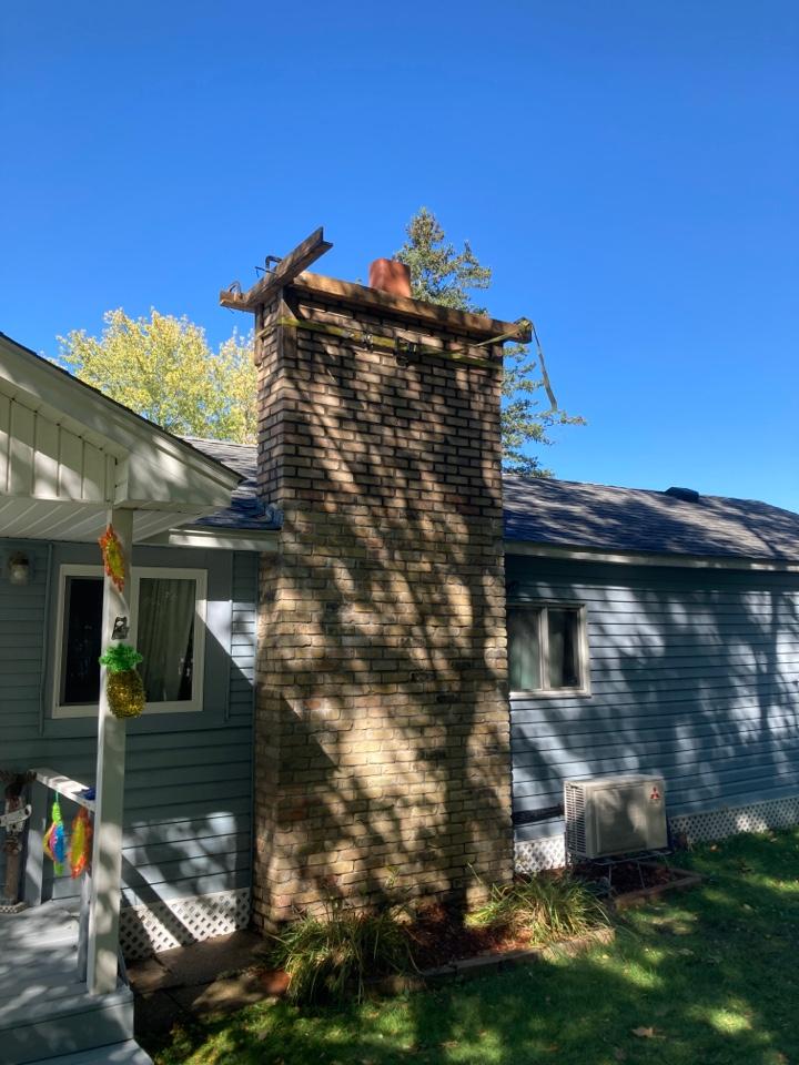 Isanti, MN - Rebuilt chimney