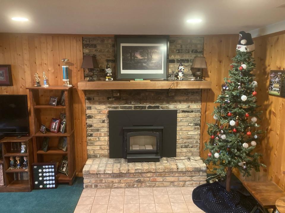 Oak Grove, MN - Installed new wood insert - exterior repairs