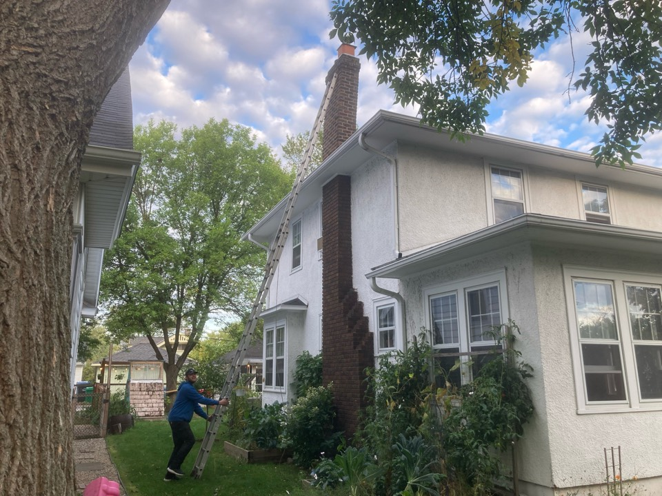 Minneapolis, MN - Annual chimney cleaning and smartscan flue liner inspection- proposal to fix chimney lean