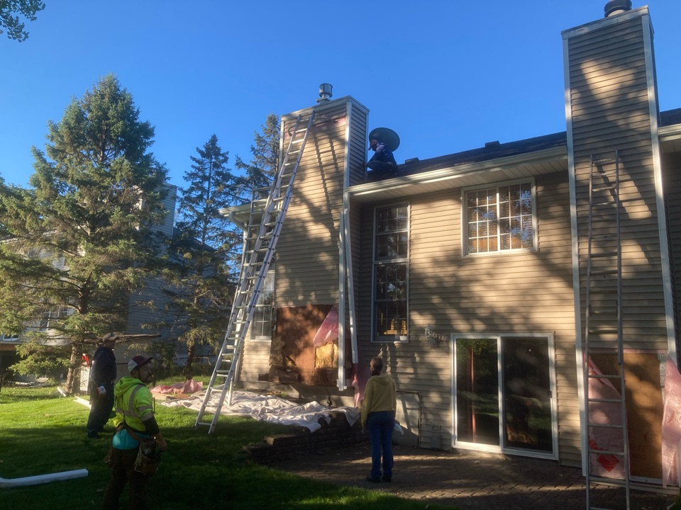 Woodbury, MN - Chimney cleaning and smartscan flue liner inspection- booked for new refractory panels and two new chase tops