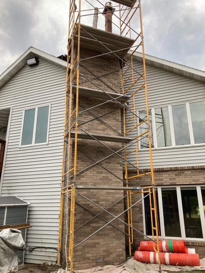 Cambridge, MN - Prepped chimney for rebuild