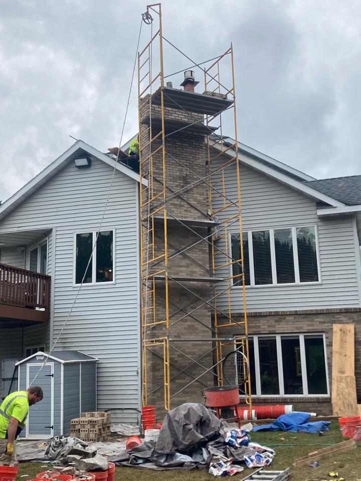 Cambridge, MN - Rebuilding chimney