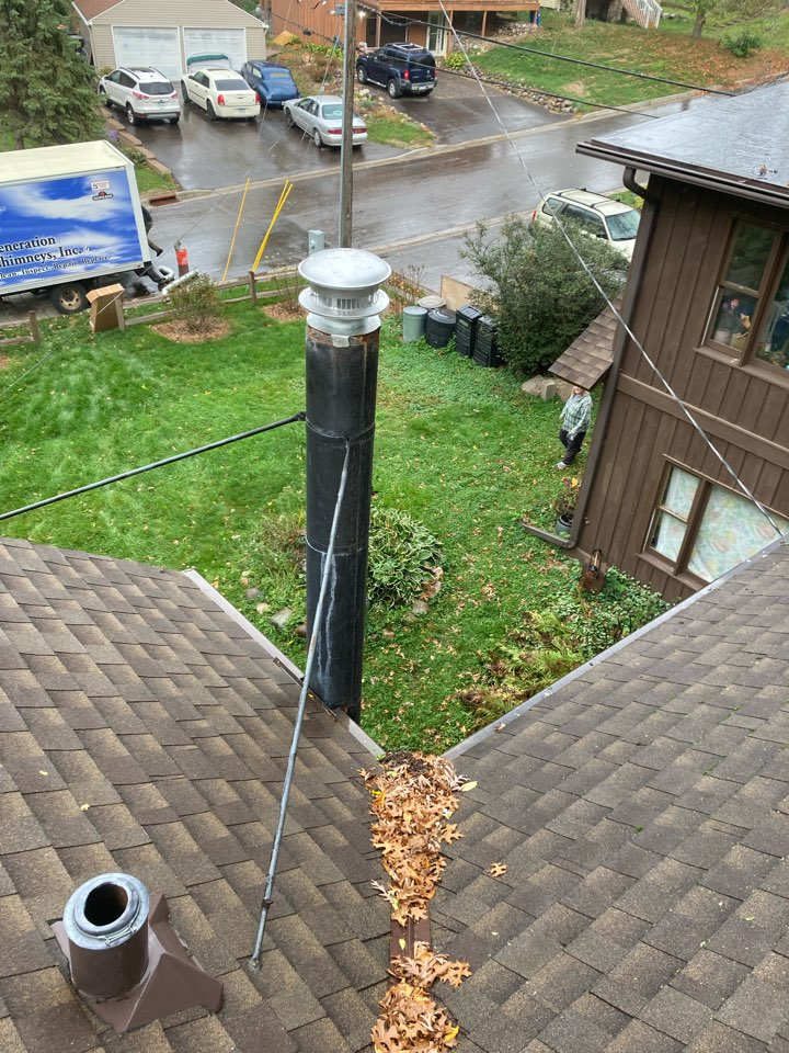 Shoreview, MN - Double clean and smart scan flue liner inspection, install 6 inch liner