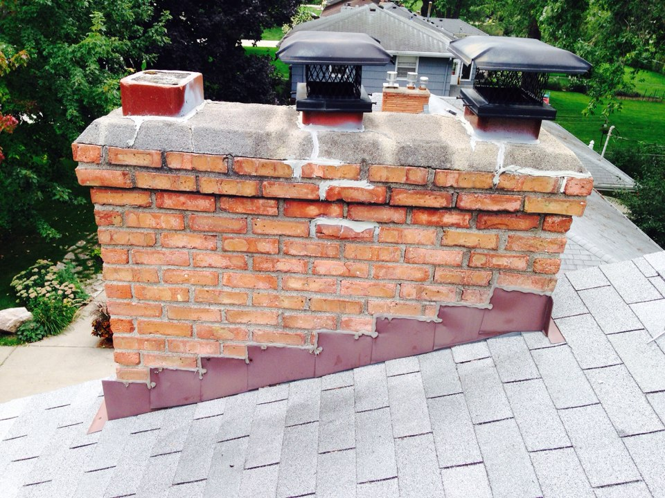 Edina, MN - Double chimney cleaning and ChimScan inspection