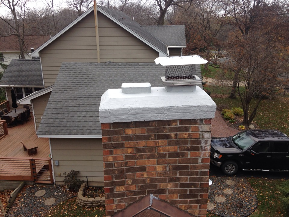 Chimney Rain Cover ~ Lakeville chimney sweeping fireplace installation