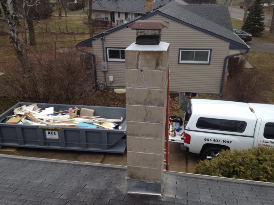 White Bear Lake, MN - Chimney cleaning, ChimScan inspection and crown repair