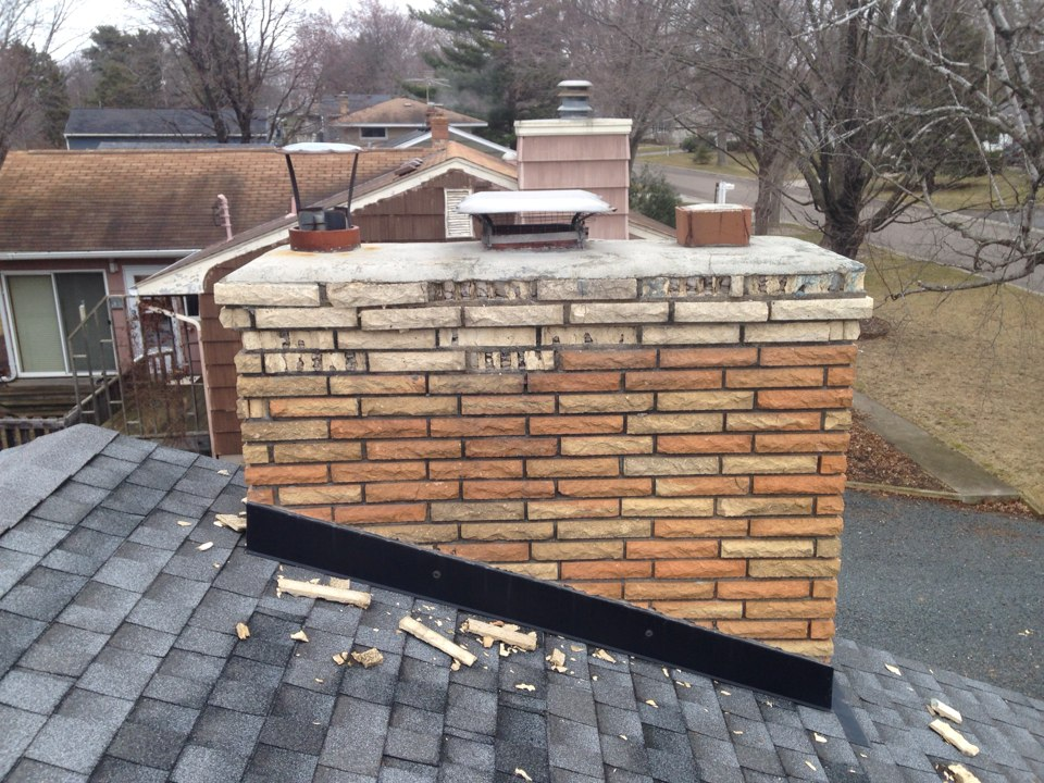 White Bear Lake, MN - Giving a estimate to fix the chimney