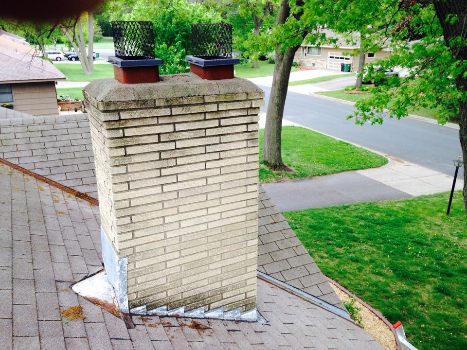 Brooklyn Center, MN - Double chimney cleaning and ChimScan inspections