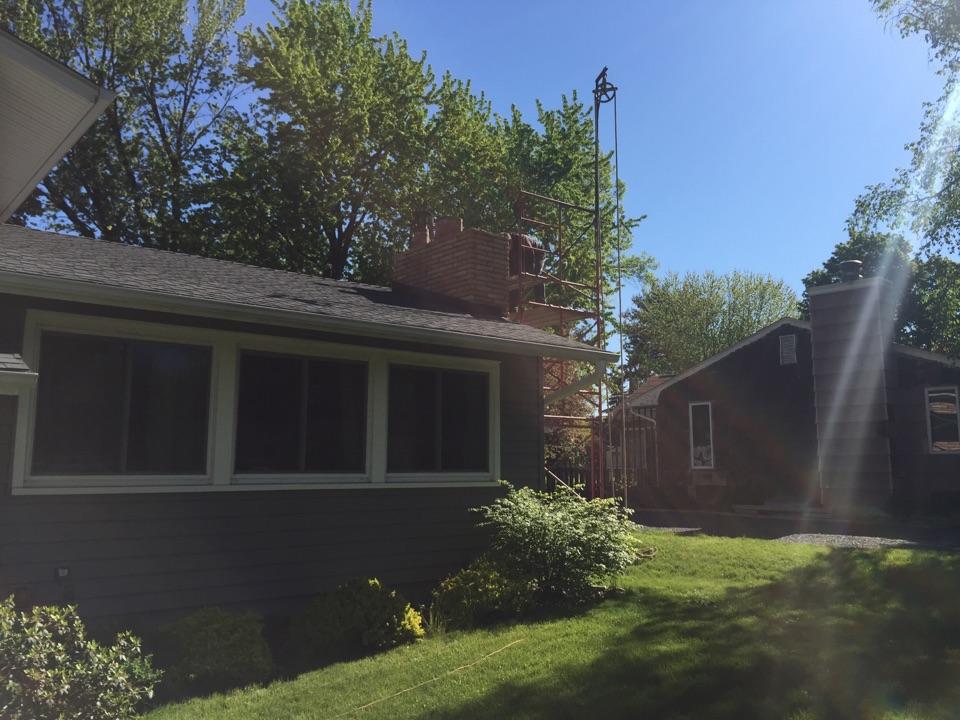 White Bear Lake, MN - Prepped chimney for rebuild.