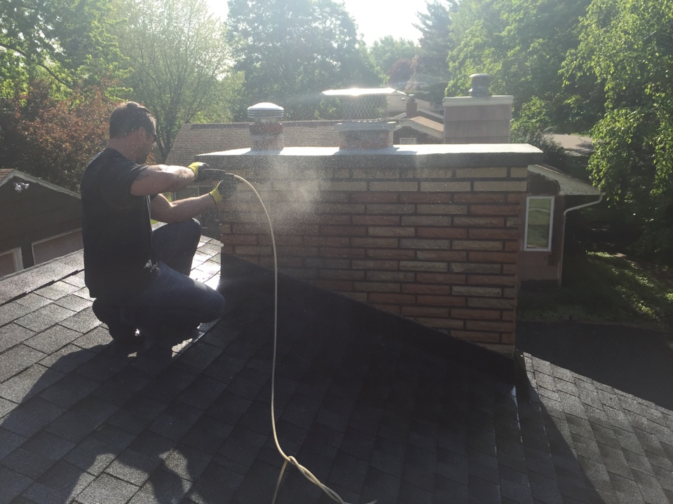 White Bear Lake, MN - Washed new brick work installed a 5-7in gas cap a 12x12 screen and rain cover
