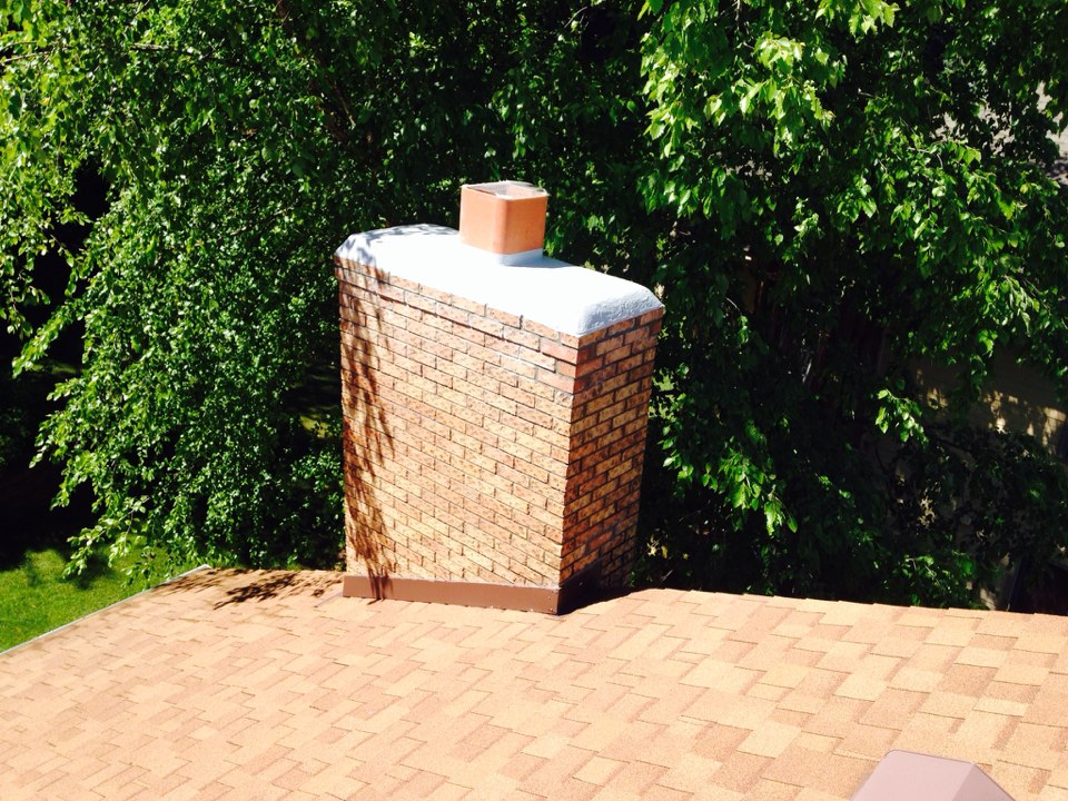 Plymouth, MN - Crown repair tuck pointed the top 3 courses of brick