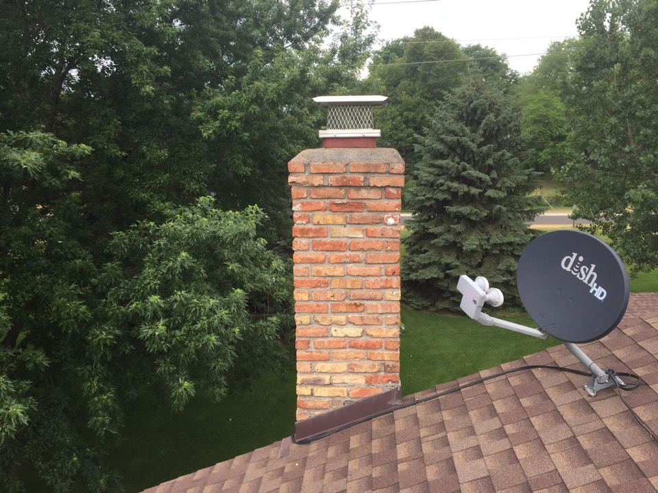 Brooklyn Center, MN - SmartScan flue liner inspection, installed a 8x13 screen and rain cover