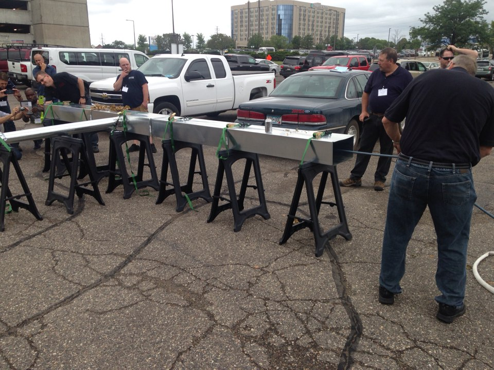 Bloomington, MN - At the DCN conference doing a demonstration outside