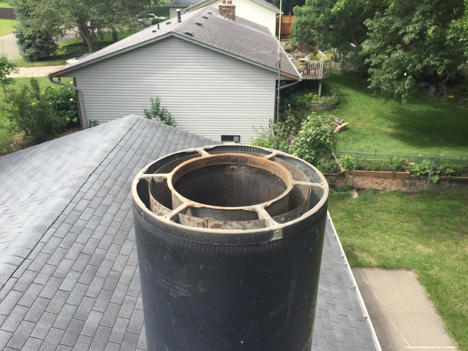 Apple Valley, MN - Chimney cleaning and SmartScan flue liner inspection, estimate for a special order screen and rain cover