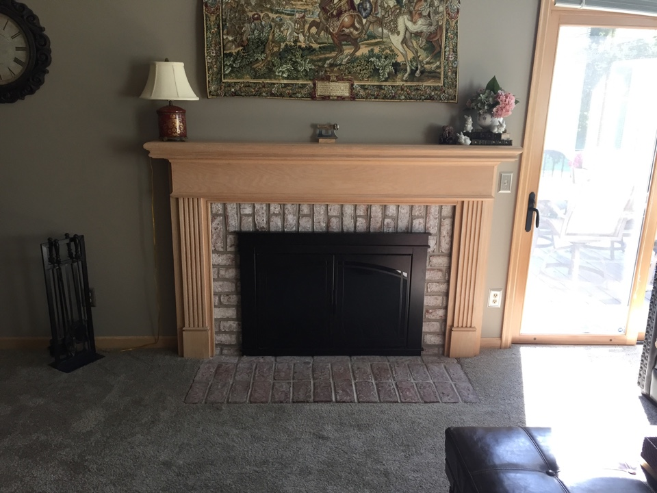 Plymouth, MN - Chimney cleaning and SmartScan flue liner inspection , installed a top plate
