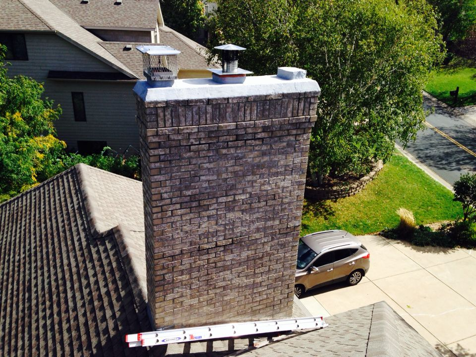 Maple Grove, MN - Double chimney cleaning and ChimScan inspections